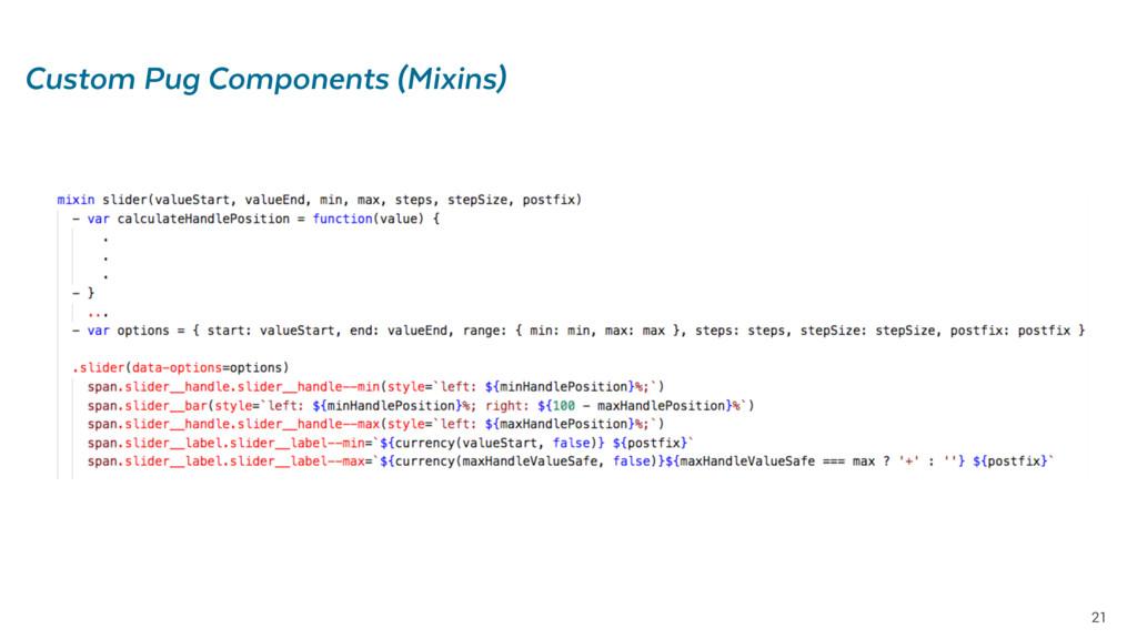 21 Custom Pug Components (Mixins)