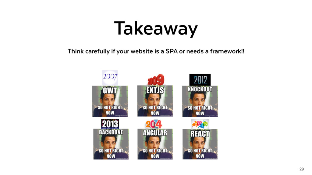 29 Takeaway Think carefully if your website is ...