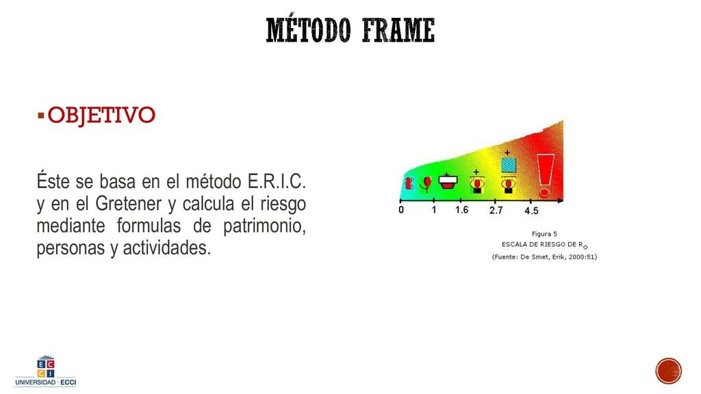 ▪OBJETIVO Éste se basa en el método E.R.I.C. y ...