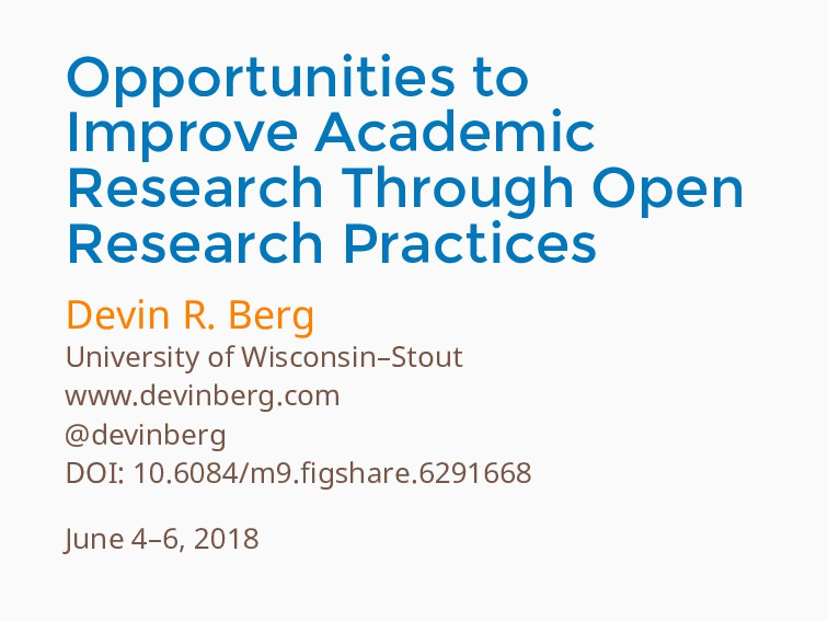 Opportunities to Improve Academic Research Thro...