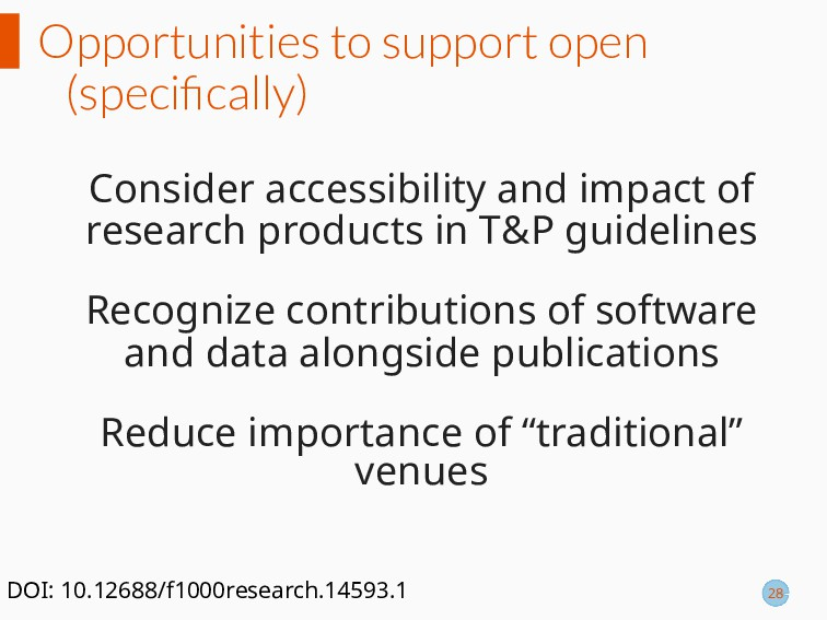 Opportunities to support open (specifically) Con...