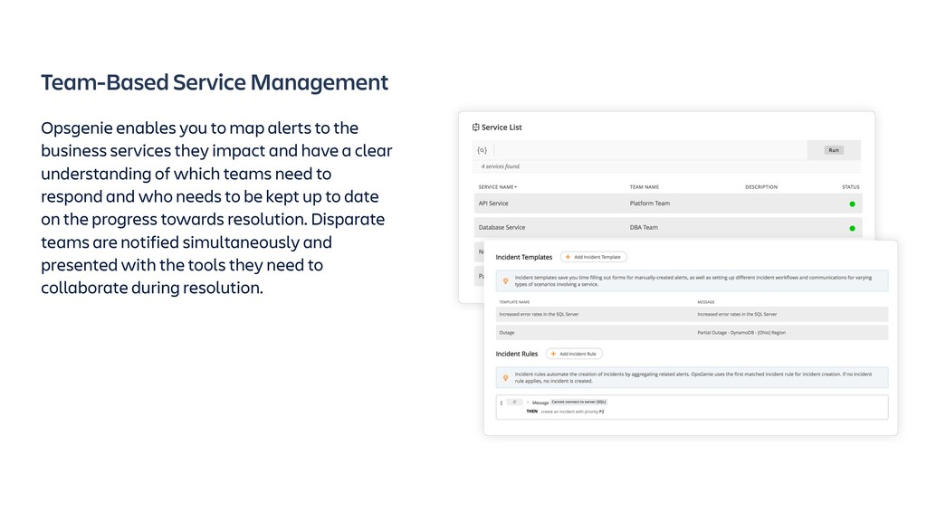 Team-Based Service Management Opsgenie enables ...