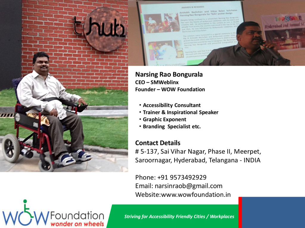 Striving for Accessibility Friendly Cities / Wo...