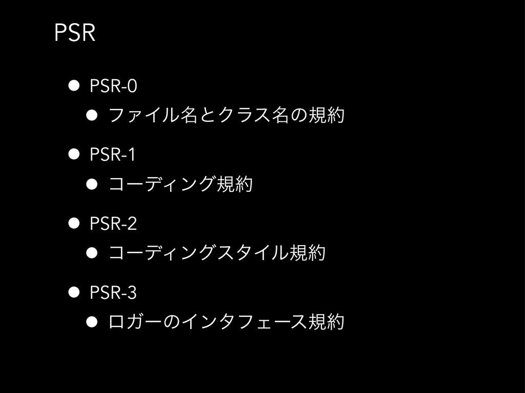 PSR • PSR-0 • ϑΝΠϧ໊ͱΫϥε໊ͷن • PSR-1 • ίʔσΟϯάن ...