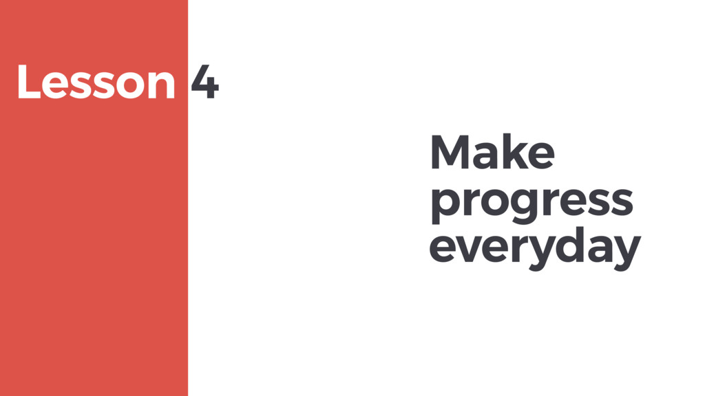 Make progress everyday MAXBORN Lesson 4