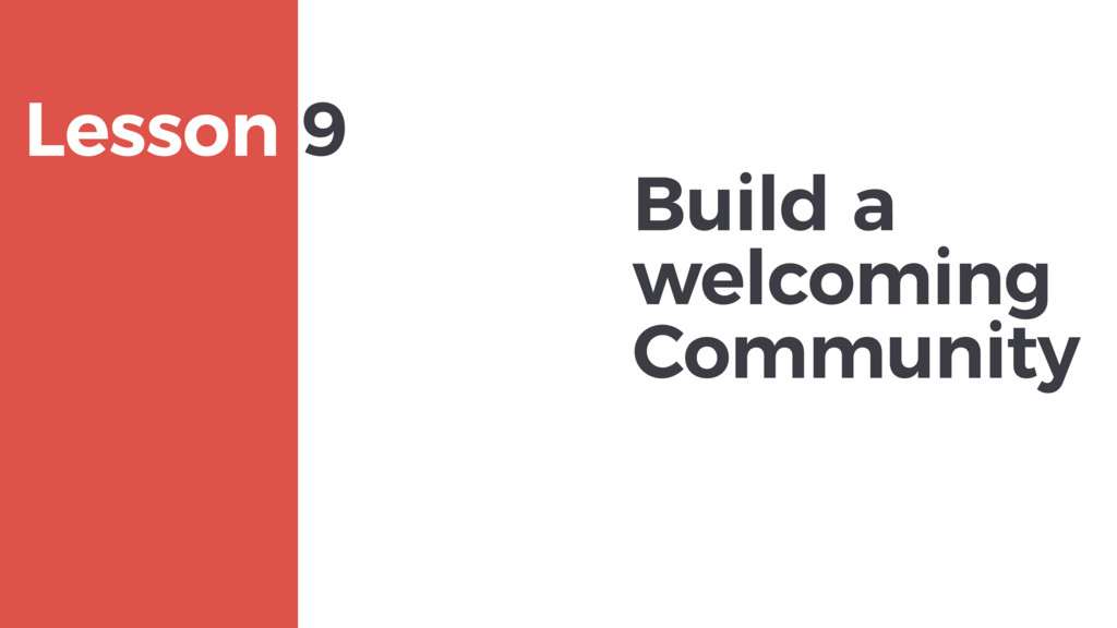 Build a welcoming Community MAXBORN Lesson 9