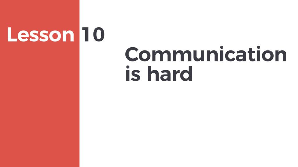 Communication is hard MAXBORN Lesson 10