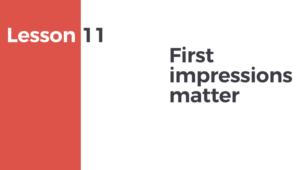First impressions matter MAXBORN Lesson 11