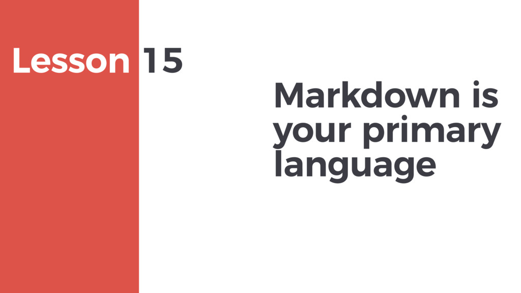 Markdown is your primary language MAXBORN Lesso...