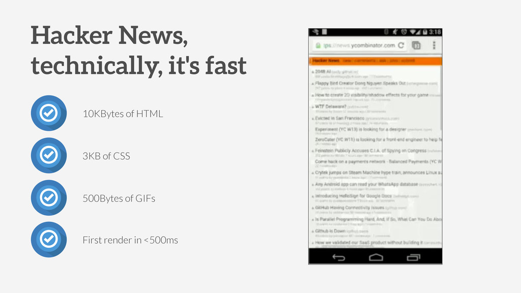 10KBytes of HTML 3KB of CSS 500Bytes of GIFs Ha...