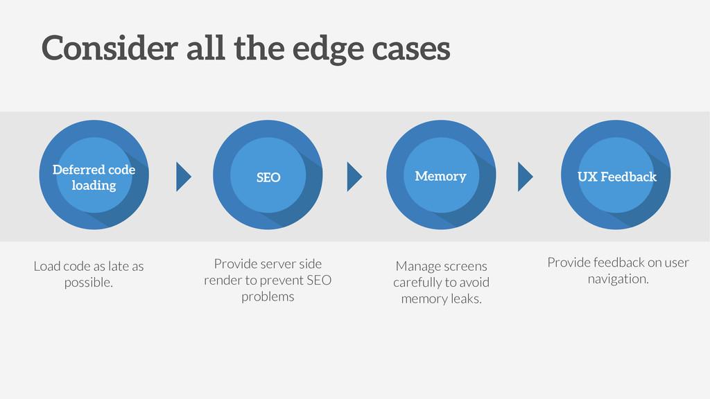 UX Feedback Memory SEO Deferred code loading Pr...