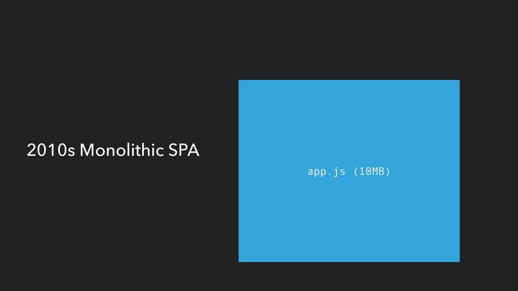 2010s Monolithic SPA app.js (10MB)