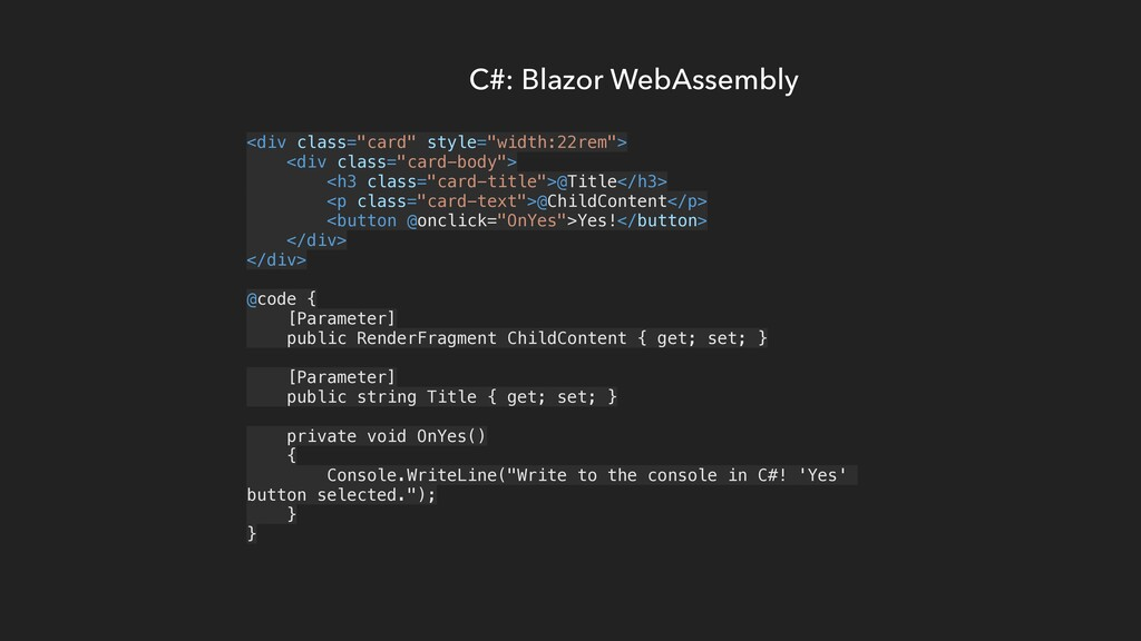 "C#: Blazor WebAssembly <div class=""card"" style=..."