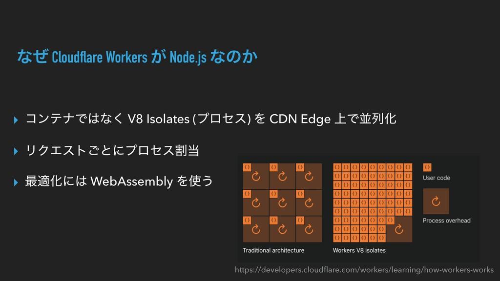 ͳͥ Cloudflare Workers ͕ Node.js ͳͷ͔ ▸ ίϯςφͰͳ͘ ...