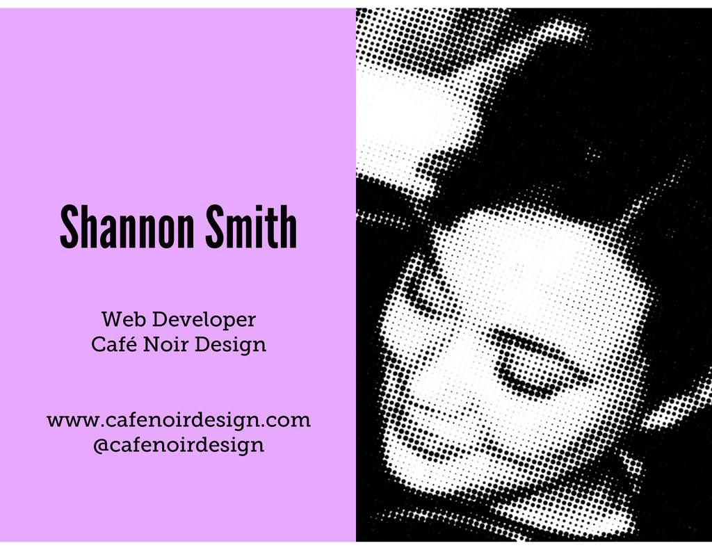 Shannon Smith Web Developer Café Noir Design ww...