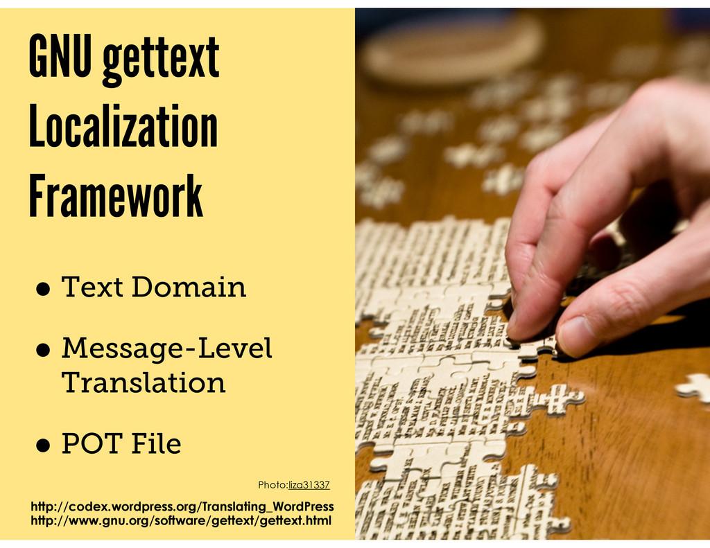 GNU gettext Localization Framework • Text Domai...