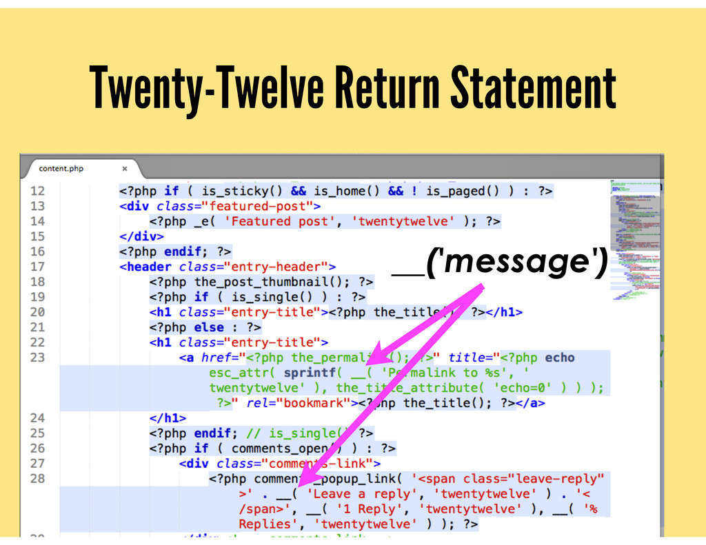 Twenty-Twelve Return Statement __('message')