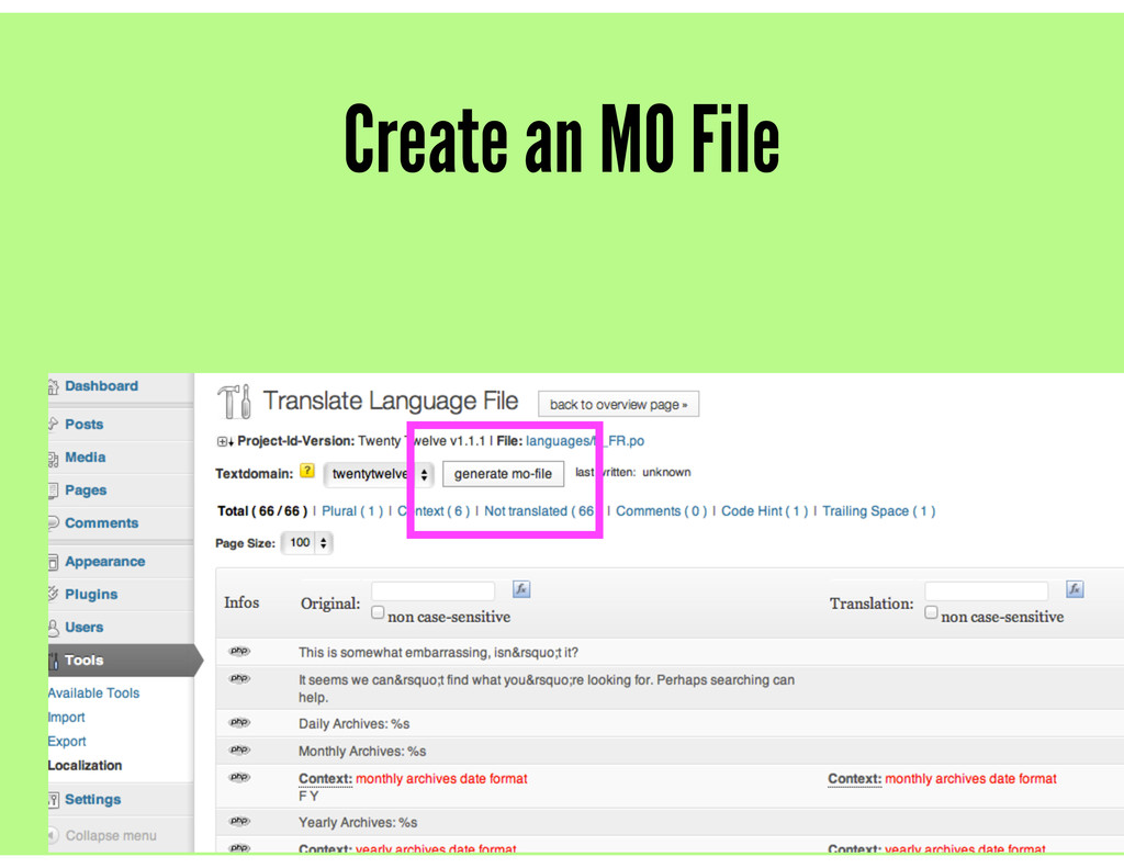Create an MO File