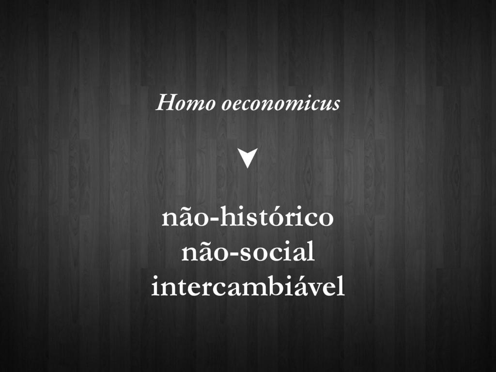 Homo oeconomicus não-histórico não-social inter...