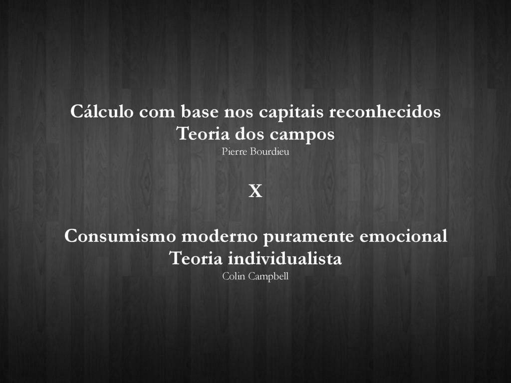 Cálculo com base nos capitais reconhecidos Teor...