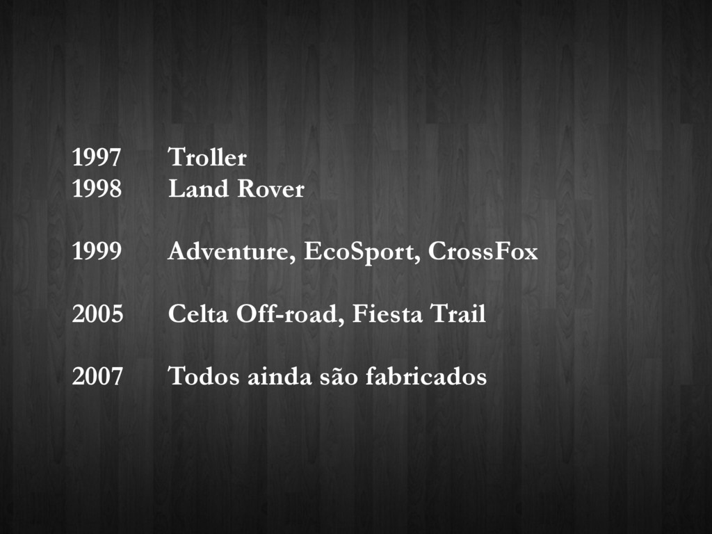 1997 Troller 1998 Land Rover 1999 Adventure, Ec...