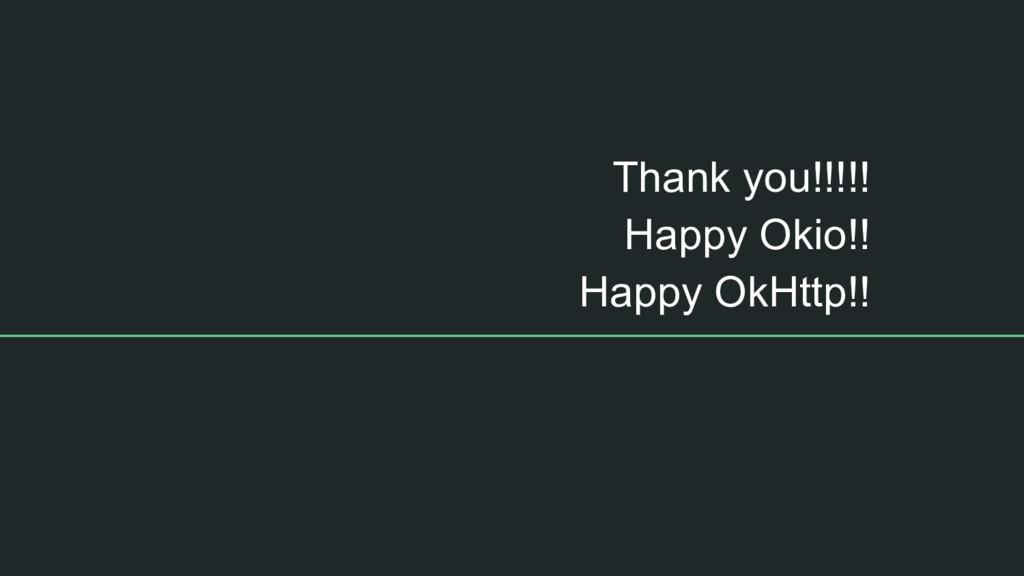 Thank you!!!!! Happy Okio!! Happy OkHttp!!