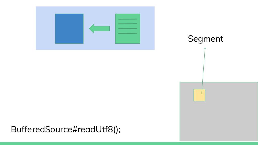 BufferedSource#readUtf8(); Segment