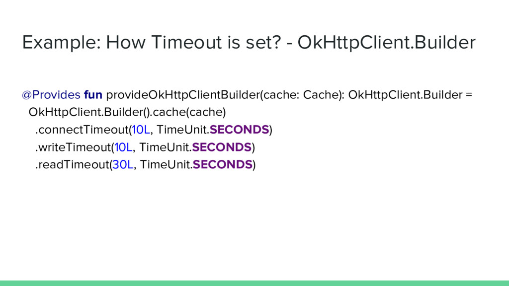 Example: How Timeout is set? - OkHttpClient.Bui...