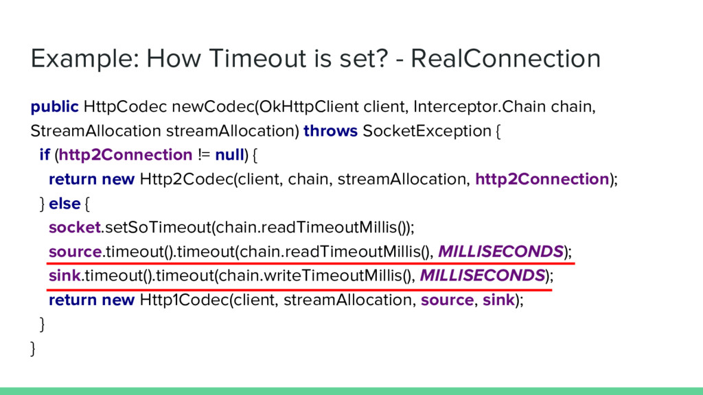 Example: How Timeout is set? - RealConnection p...