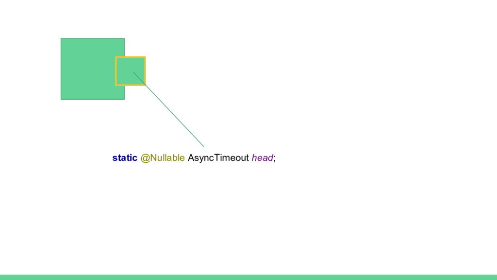 static @Nullable AsyncTimeout head;