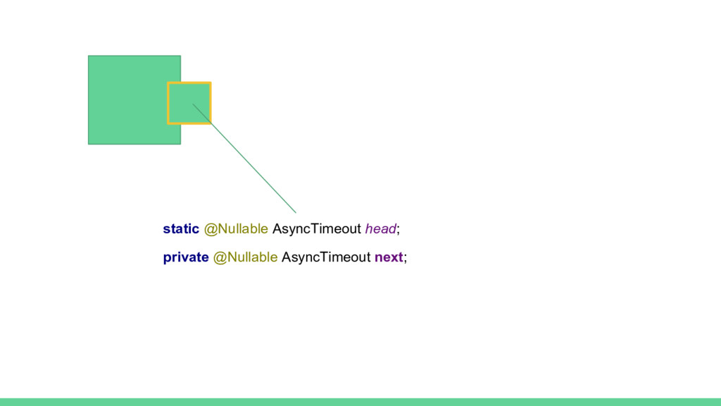 static @Nullable AsyncTimeout head; private @Nu...