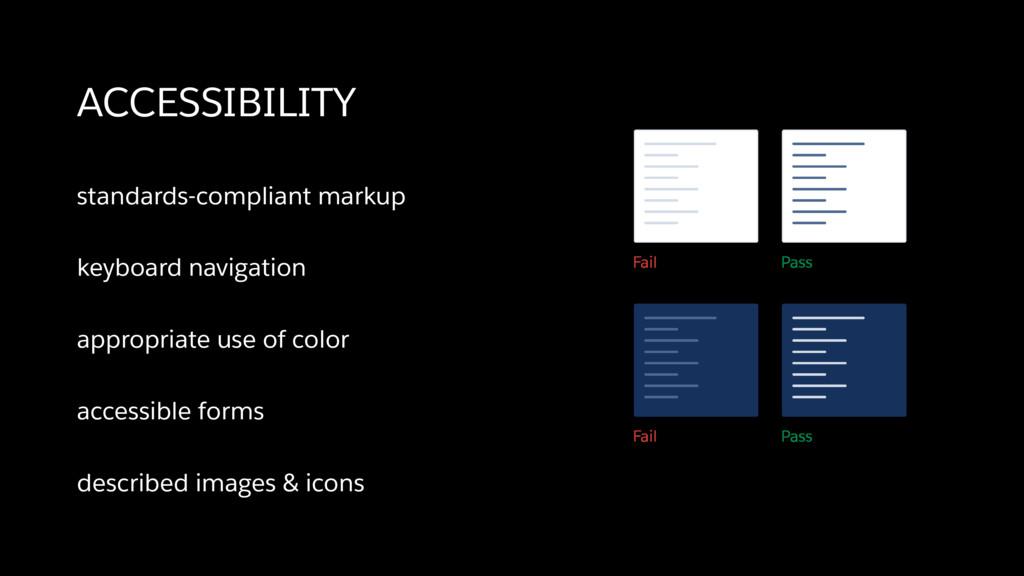 standards-compliant markup keyboard navigation ...