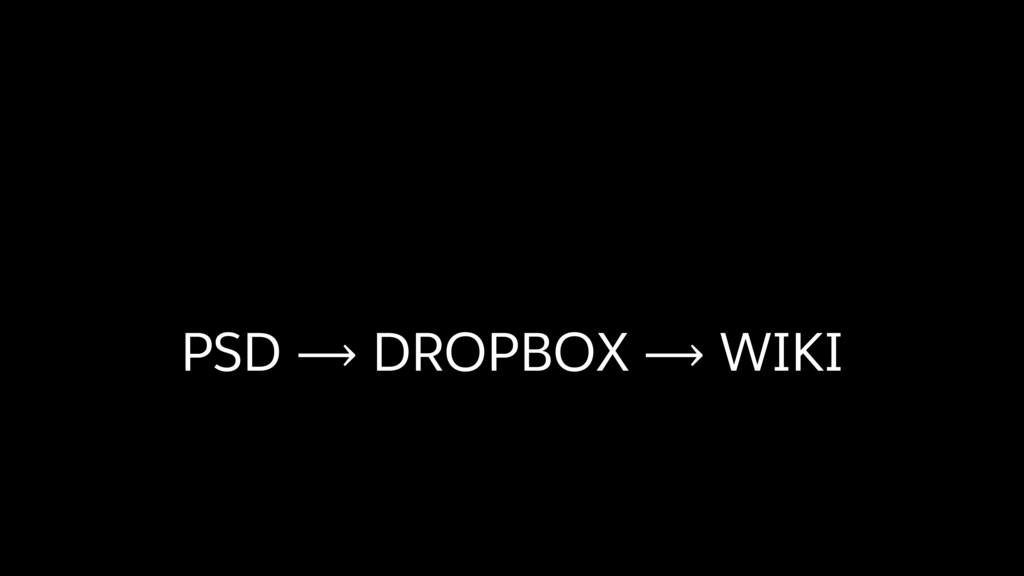 PSD ⟶ DROPBOX ⟶ WIKI