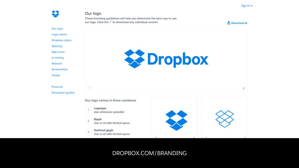 DROPBOX.COM/BRANDING