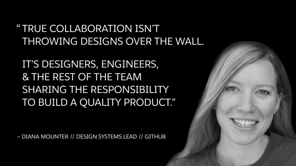 """""""TRUE COLLABORATION ISN'T THROWING DESIGNS OVER..."""