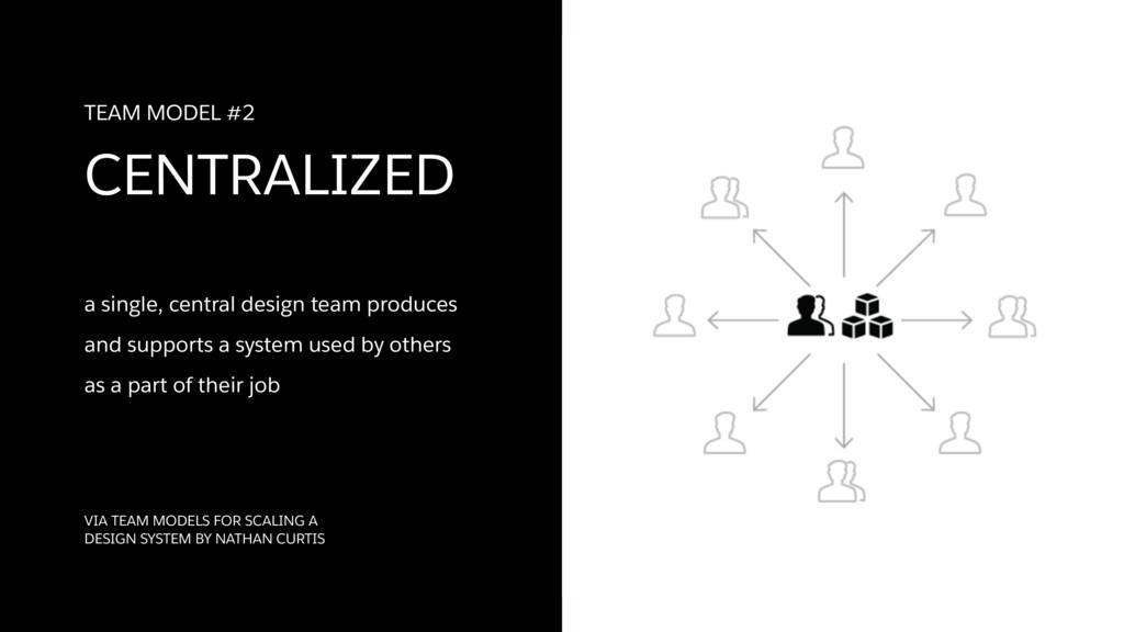a single, central design team produces  and su...
