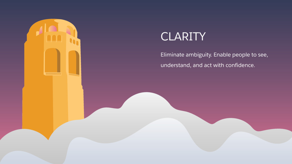 CLARITY Eliminate ambiguity. Enable people to s...