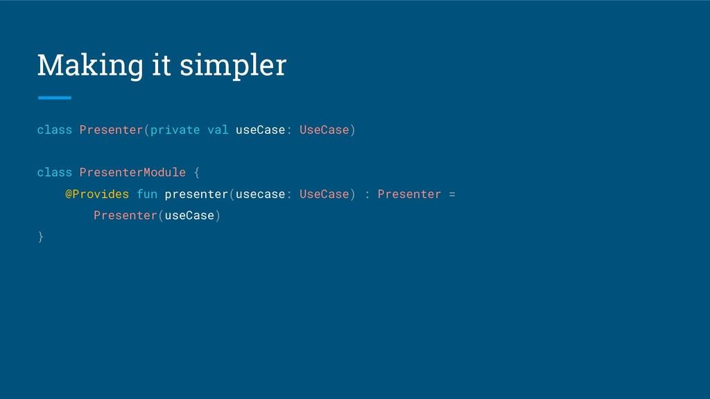 Making it simpler class Presenter(private val u...