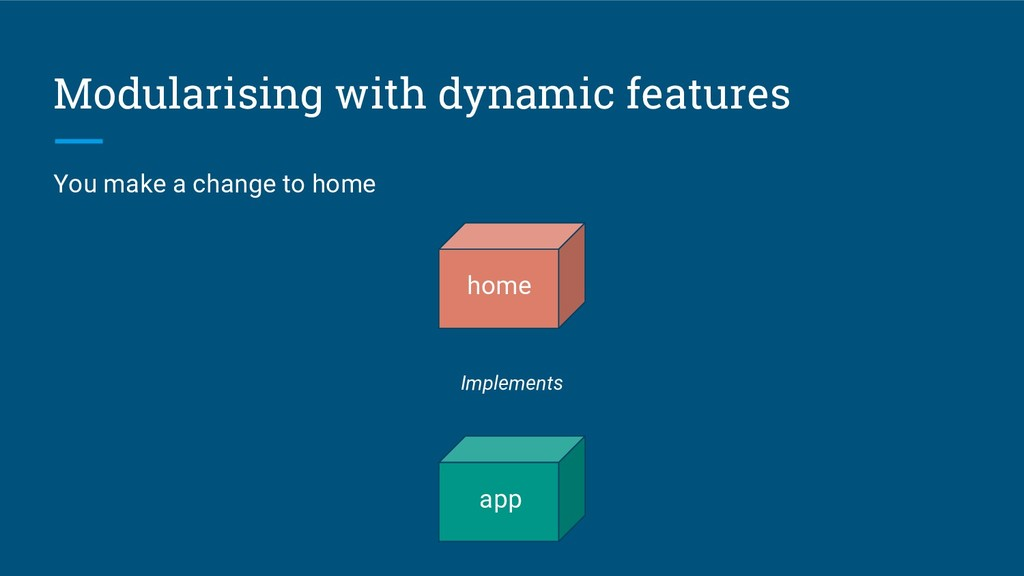 Modularising with dynamic features home app Imp...