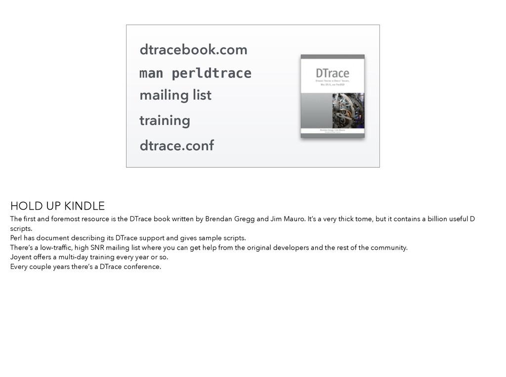 dtracebook.com man perldtrace mailing list trai...