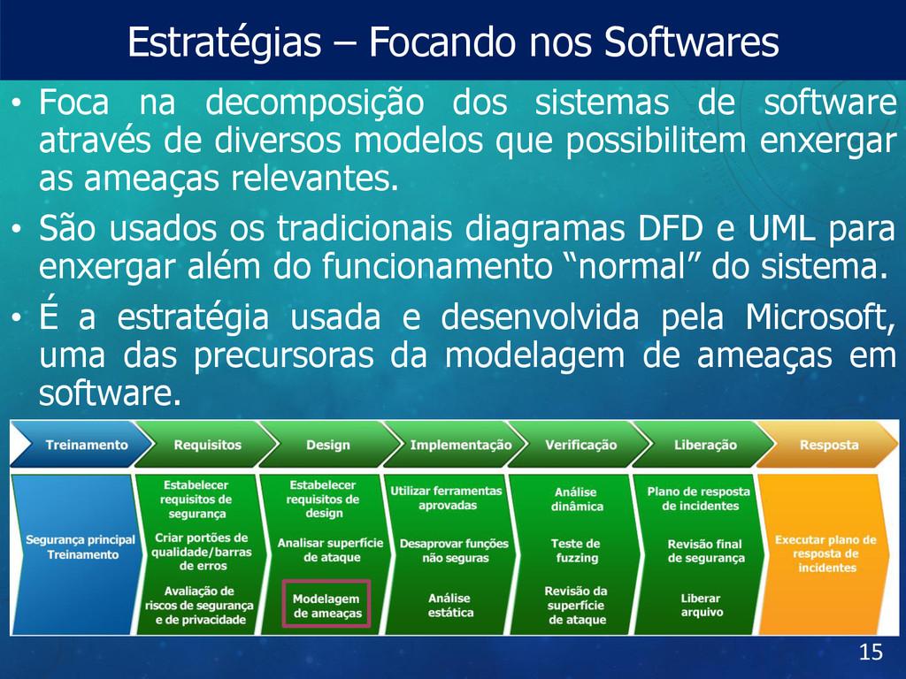 Estratégias – Focando nos Softwares • Foca na d...