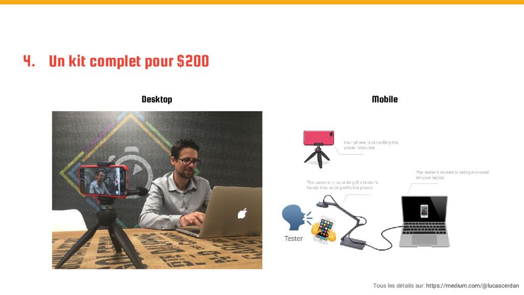 4. Un kit complet pour $200 Desktop Mobile Tous...