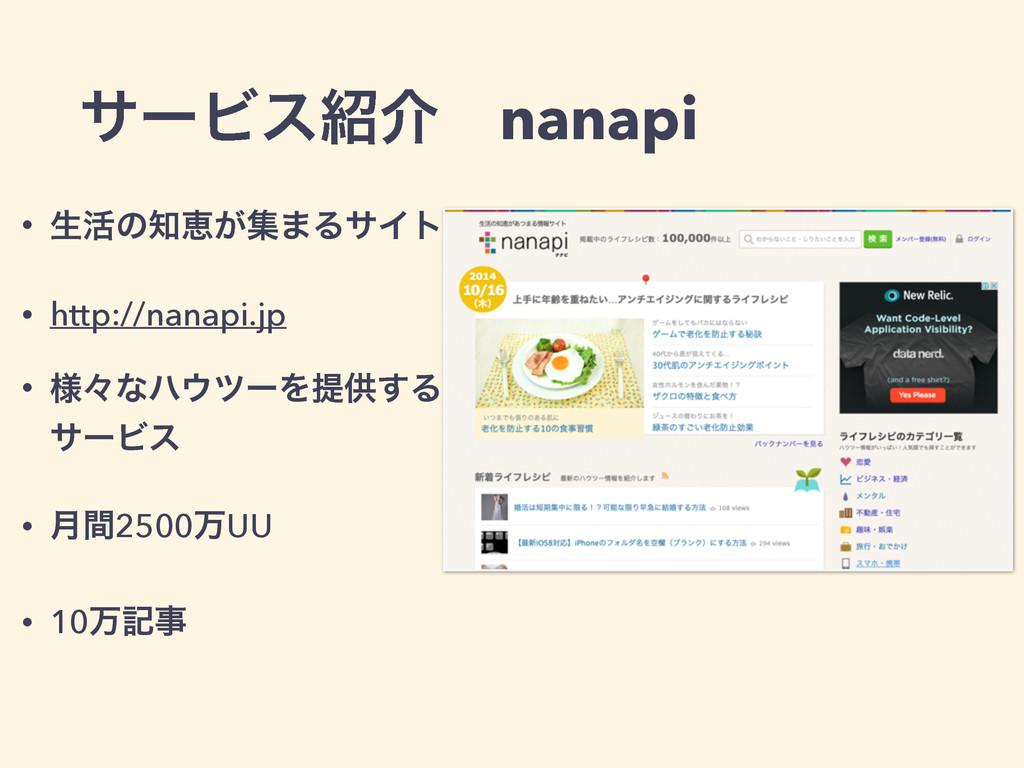 αʔϏεհɹnanapi • ੜ׆ͷܙ͕ू·ΔαΠτ • http://nanapi.jp...