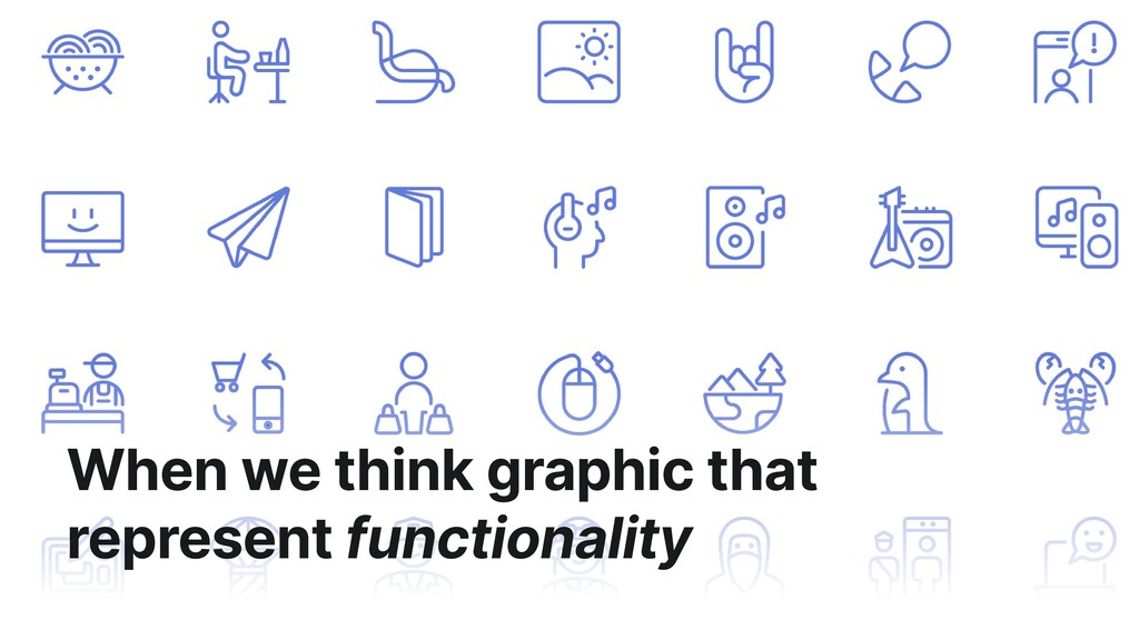 When we think graphic that represent functional...