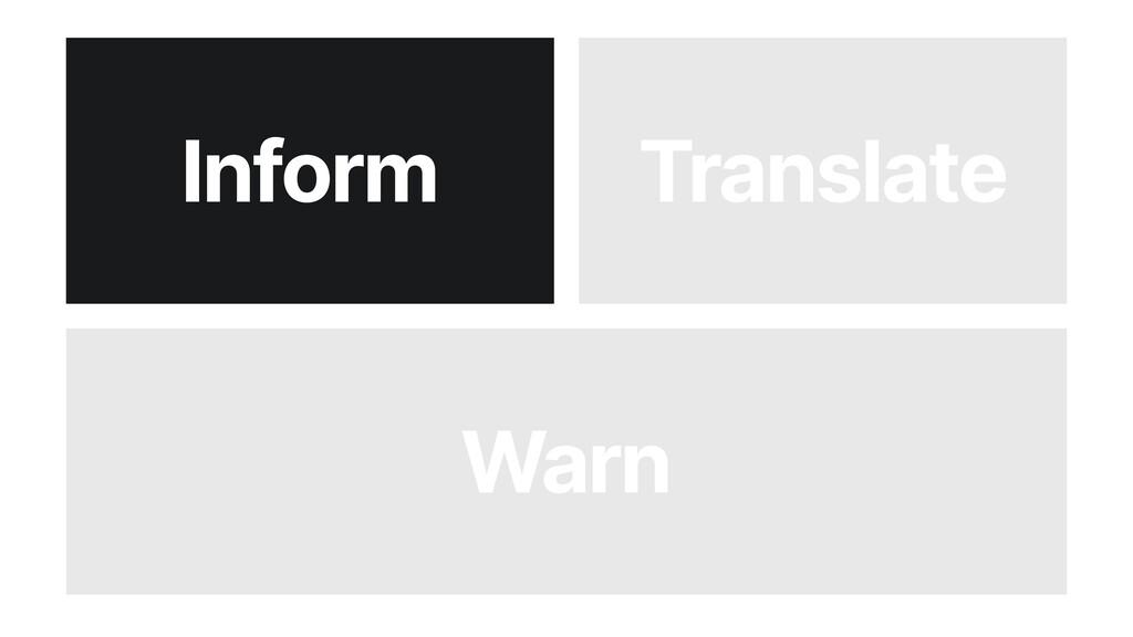 Warn Inform Translate