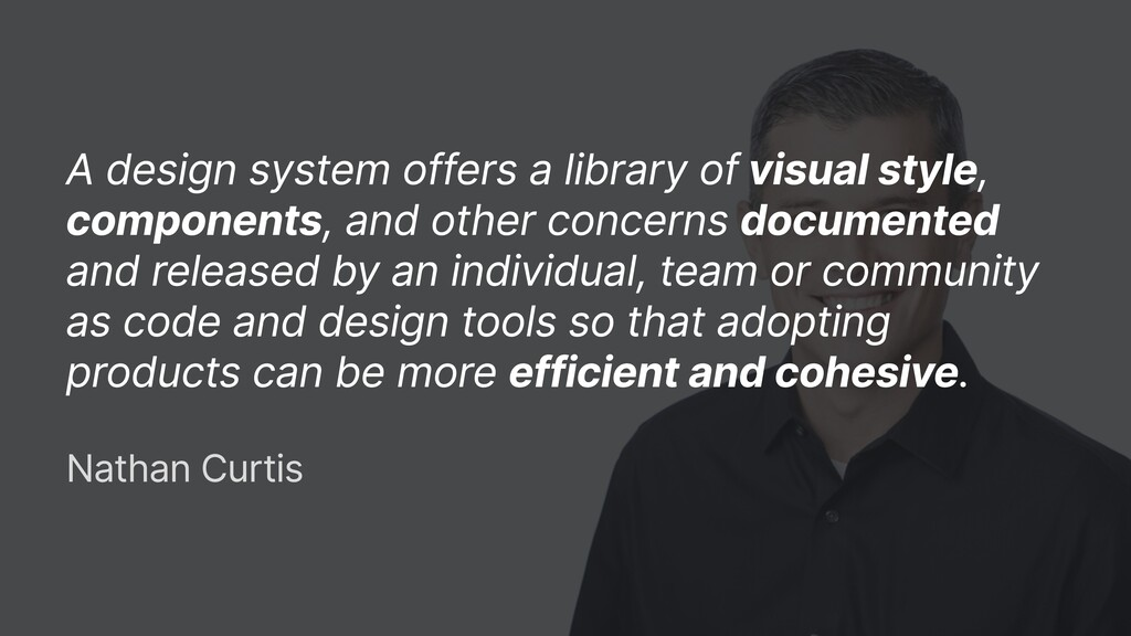 A design system offers a library of visual styl...