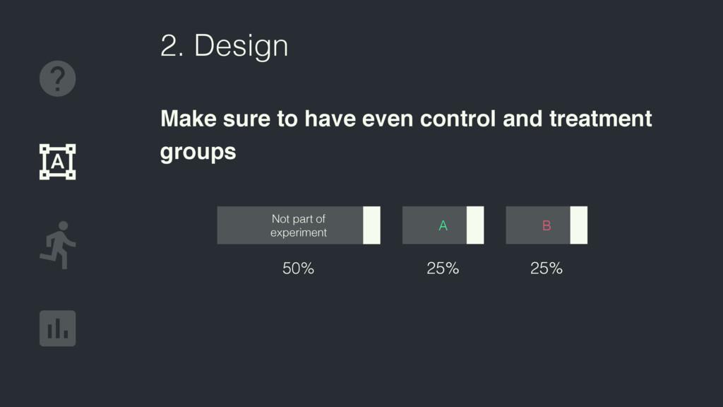 50% Not part of experiment 2. Design Make sure ...