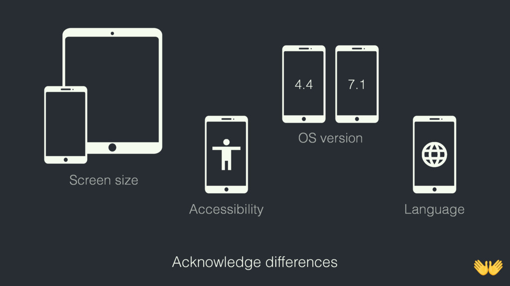 4.4 7.1 Screen size Accessibility Language OS v...