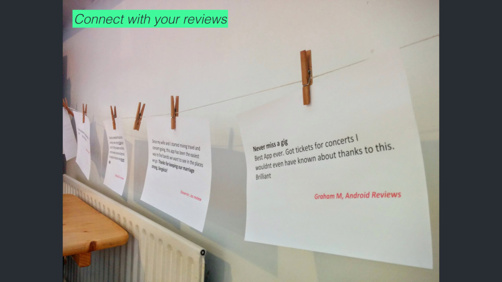 Connect with your reviews