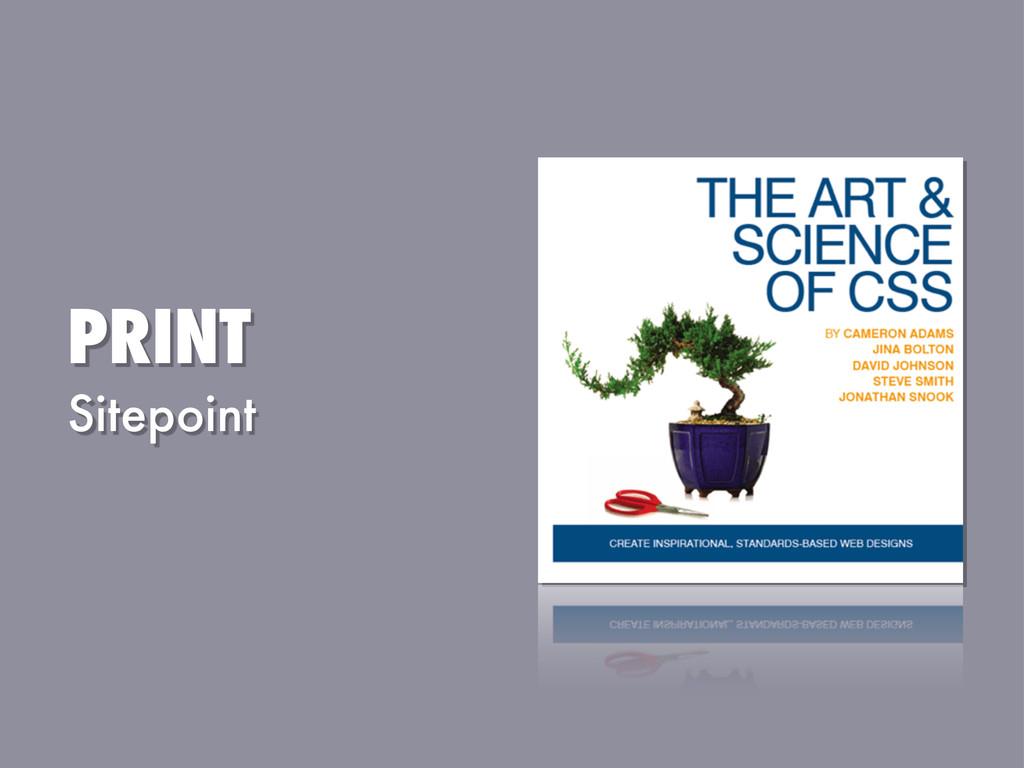 PRINT Sitepoint